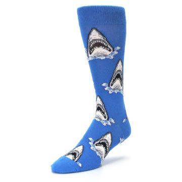 Image of Blue Shark Attack XL Men's Dress Socks (side-2-front-08)