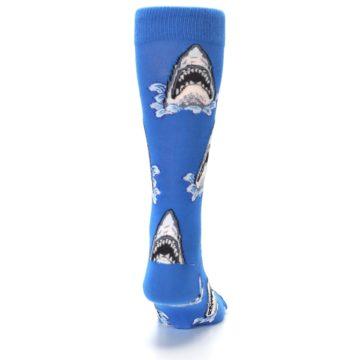 Image of Blue Shark Attack XL Men's Dress Socks (back-19)