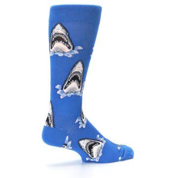 Image of Blue Shark Attack XL Men's Dress Socks (side-1-23)