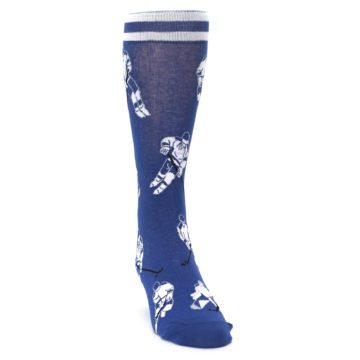 Image of Blue White Hockey Men's Dress Sock (side-1-front-03)