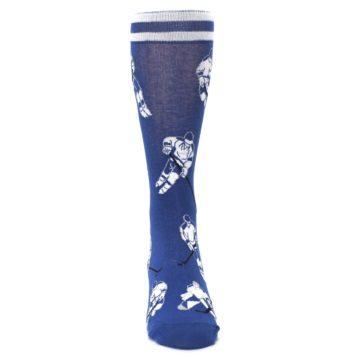 Image of Blue White Hockey Men's Dress Sock (front-04)