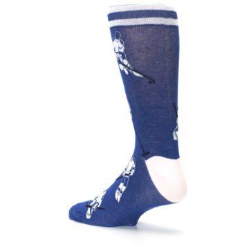 Image of Blue White Hockey Men's Dress Sock (side-2-back-14)