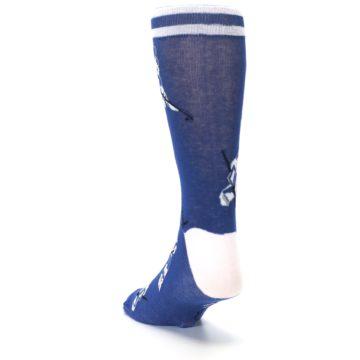 Image of Blue White Hockey Men's Dress Sock (side-2-back-16)