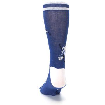 Image of Blue White Hockey Men's Dress Sock (back-17)