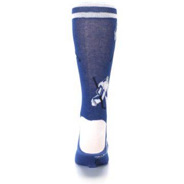 Image of Blue White Hockey Men's Dress Sock (back-18)