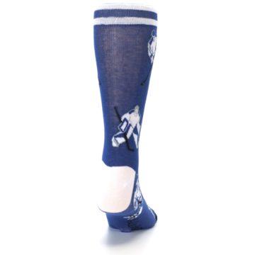 Image of Blue White Hockey Men's Dress Sock (back-19)