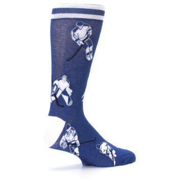 Image of Blue White Hockey Men's Dress Sock (side-1-23)