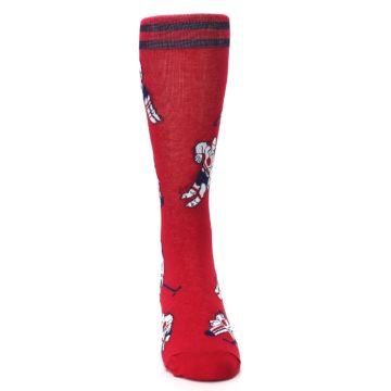 Image of Red White Hockey Men's Dress Sock (front-04)