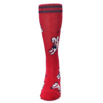 Image of Red White Hockey Men's Dress Sock (front-05)