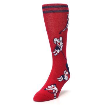 Image of Red White Hockey Men's Dress Sock (side-2-front-07)
