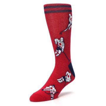 Image of Red White Hockey Men's Dress Sock (side-2-front-08)
