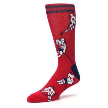 Image of Red White Hockey Men's Dress Sock (side-2-09)