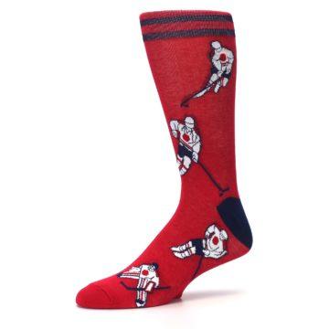 Image of Red White Hockey Men's Dress Sock (side-2-10)