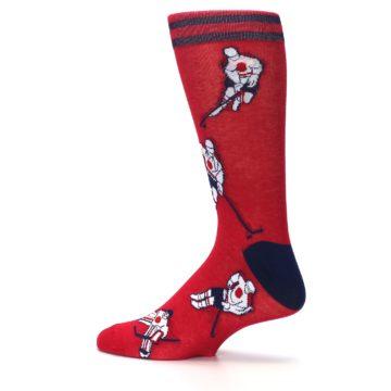 Image of Red White Hockey Men's Dress Sock (side-2-13)