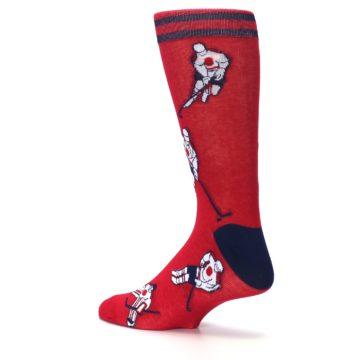 Image of Red White Hockey Men's Dress Sock (side-2-back-14)