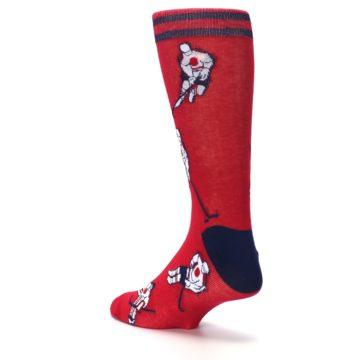 Image of Red White Hockey Men's Dress Sock (side-2-back-15)