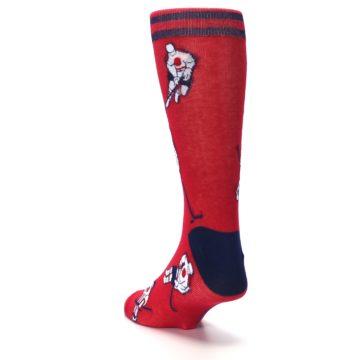 Image of Red White Hockey Men's Dress Sock (side-2-back-16)