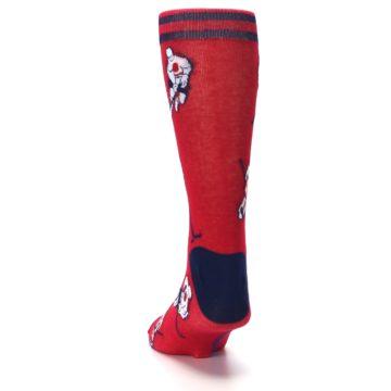 Image of Red White Hockey Men's Dress Sock (back-17)