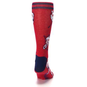 Image of Red White Hockey Men's Dress Sock (back-19)