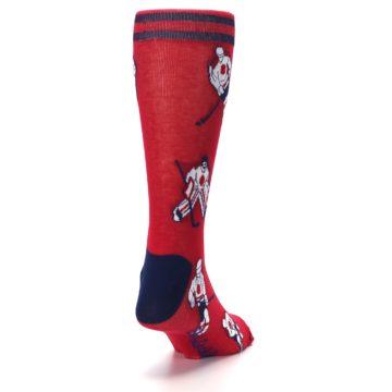 Image of Red White Hockey Men's Dress Sock (side-1-back-20)