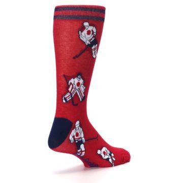 Image of Red White Hockey Men's Dress Sock (side-1-back-22)