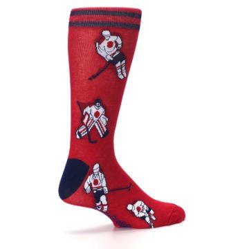 Image of Red White Hockey Men's Dress Sock (side-1-23)
