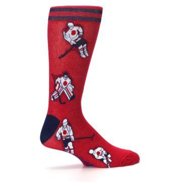 Image of Red White Hockey Men's Dress Sock (side-1-24)