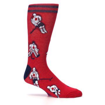 Image of Red White Hockey Men's Dress Sock (side-1-25)