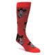 Skull and guitars Red men's dress socks by Good Luck Sock