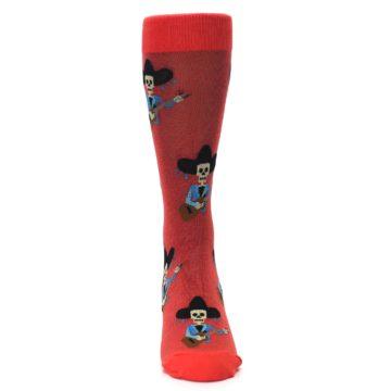 Image of Red Mariachi Skeleton Men's Dress Sock (front-04)