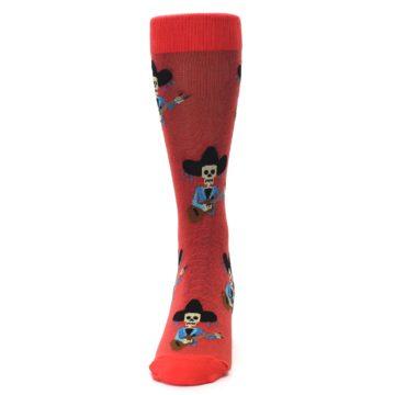 Image of Red Mariachi Skeleton Men's Dress Sock (front-05)