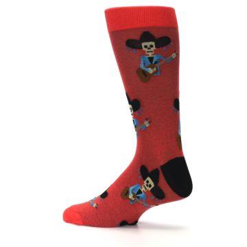 Image of Red Mariachi Skeleton Men's Dress Sock (side-2-13)