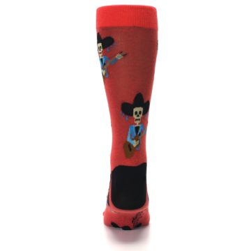 Image of Red Mariachi Skeleton Men's Dress Sock (back-18)