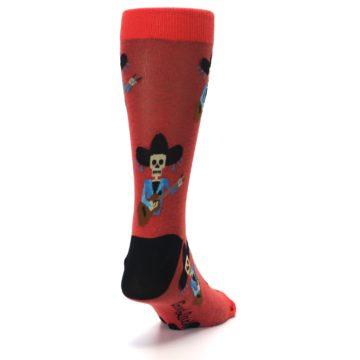 Image of Red Mariachi Skeleton Men's Dress Sock (side-1-back-20)