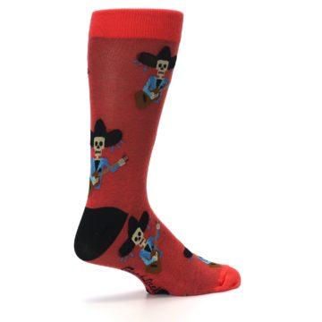 Image of Red Mariachi Skeleton Men's Dress Sock (side-1-23)