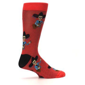 Image of Red Mariachi Skeleton Men's Dress Sock (side-1-24)