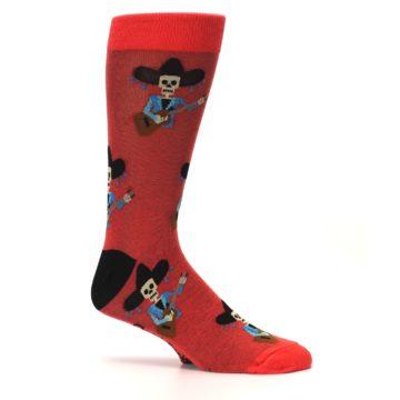 Image of Red Mariachi Skeleton Men's Dress Sock (side-1-25)
