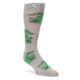 Grey and green alligator socks by Good Luck Sock
