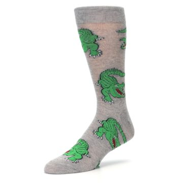 Image of Grey Green Alligators Men's Dress Sock (side-2-09)