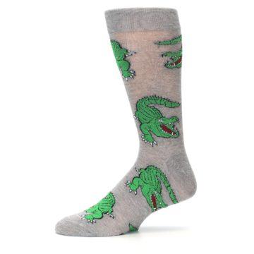 Image of Grey Green Alligators Men's Dress Sock (side-2-11)
