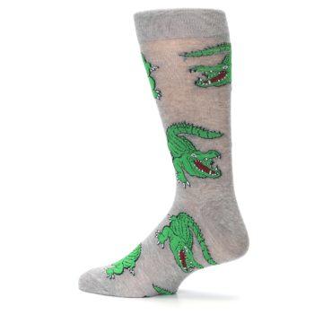 Image of Grey Green Alligators Men's Dress Sock (side-2-13)