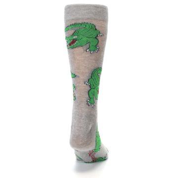 Image of Grey Green Alligators Men's Dress Sock (back-19)