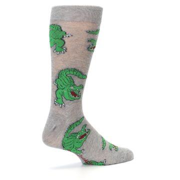 Image of Grey Green Alligators Men's Dress Sock (side-1-23)