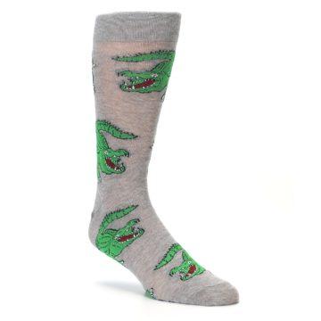 Image of Grey Green Alligators Men's Dress Sock (side-1-27)