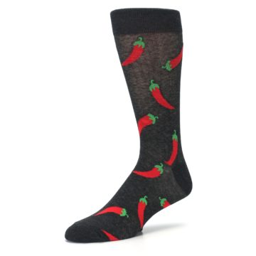 Image of Grey Hot Chili Peppers  Men's Dress Sock (side-2-09)