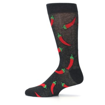 Image of Grey Hot Chili Peppers  Men's Dress Sock (side-2-12)