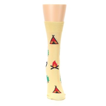 Image of Tan Camping Fire Women's Dress Sock (front-04)