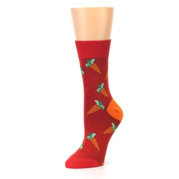 Image of Red Orange Carrots Women's Dress Sock (side-2-09)