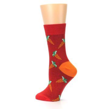 Image of Red Orange Carrots Women's Dress Sock (side-2-13)