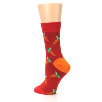 Image of Red Orange Carrots Women's Dress Sock (side-2-back-14)